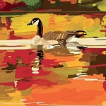 On Golden Pond Beverage Napkins (20)