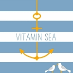 Vitamin Sea Anchor Napkins (20) - 2 sizes