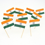 India | Indian Flag Toothpicks (100)