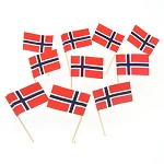 Norway | Norweigian Flag Toothpicks (100)