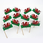 Wales | Welsh Flag Toothpicks (100)