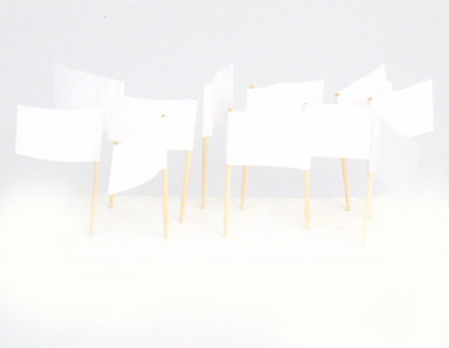White Flag Toothpicks (100)