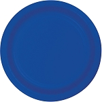 Cobalt Blue Round Paper Plates (24) - 2 sizes