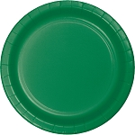 Emerald Green Round Paper Plates (24) - 2 sizes