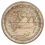 Old World Map Paper Plates (8)