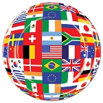 International World Flag Paper Plates (8) - 2 sizes