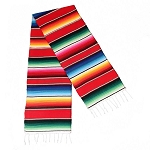 Mexican Striped Serape Table Runner - 16