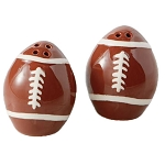 Ceramic Football Salt & Pepper Shakers
