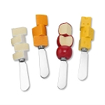 Cheese Chunk Handle Spreaders (4)