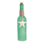 LED Light-Up Frosted Glass Bottle With Real Hanging Starfish - 3 colors