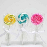 Candle: Swirl Lollipop, Small - 3 colors ** DISCONTINUED **