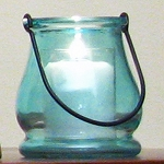Light Blue Mini Lantern Candle Holder
