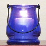 Purple-Blue Mini Lantern Candle Holder