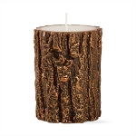 Metallic Copper Tree Bark Pillar Candle - 2 sizes