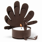 Sitting Turkey Metal Tealight Holder