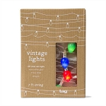 Mini Vintage Christmas Bulbs LED Lights (20) - Battery