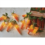 6' Carrot Battery-Operated LED String Lights