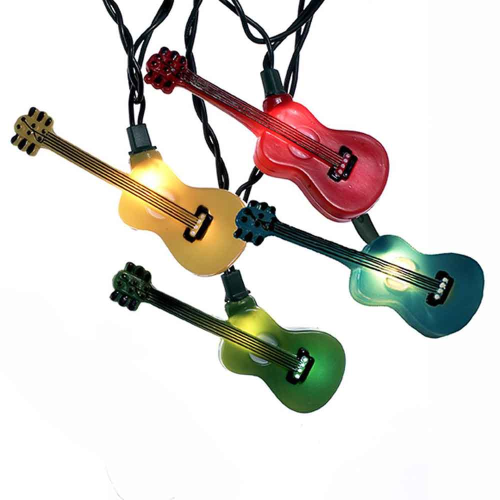 guitar string lights music theme party decorations supplies. Black Bedroom Furniture Sets. Home Design Ideas