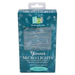 White LED Glimmer Micro Fairy Lights - Battery Operated