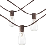 20' Straight-Sided Bulb String Lights - 20 lights