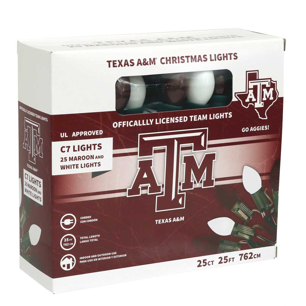 Texas A & M C7 Colored Bulb String Lights