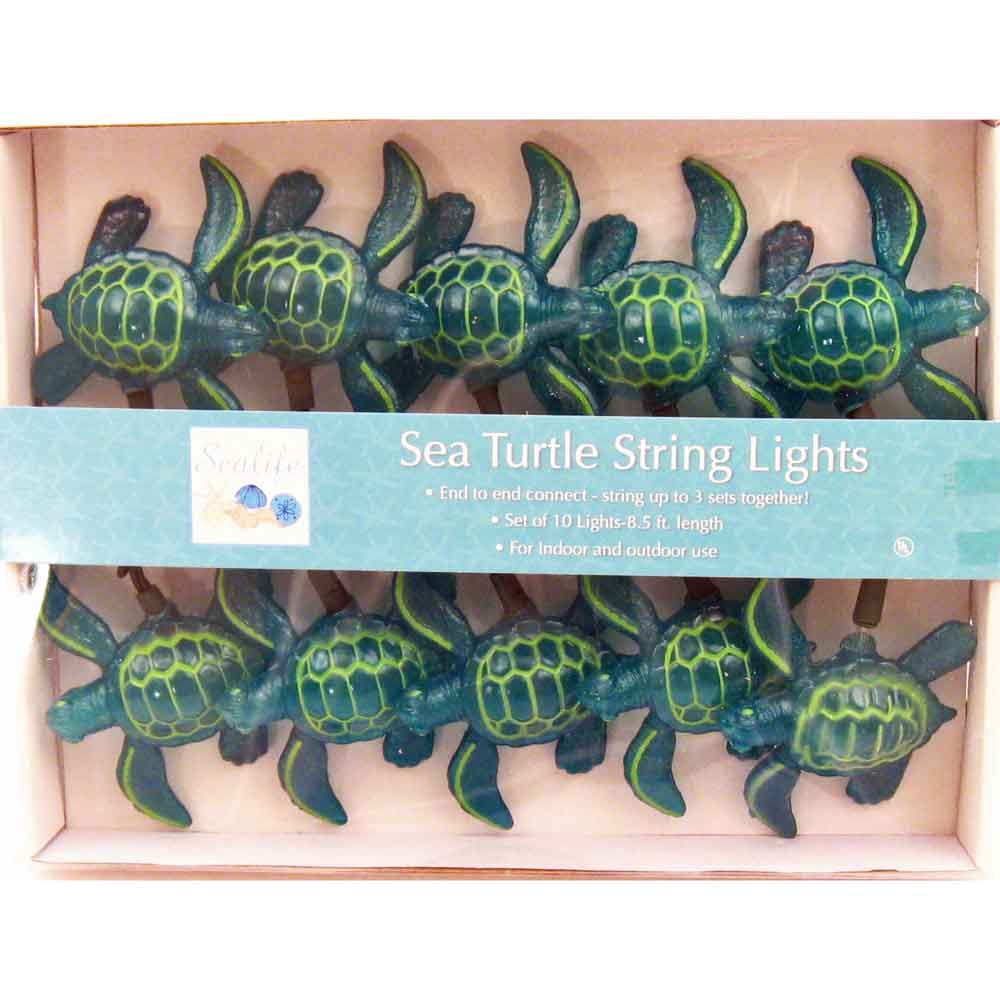 Sea Turtle String Lights Beach Party Decorations Ocean