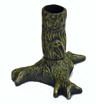 Cast Iron Tree Trunk Taper Candle Holder
