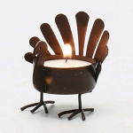 Standing Turkey Metal Tealight Holder **CLEARANCE**