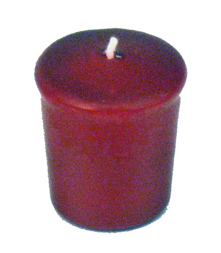 Burgundy 15 Hour Unscented Votive Candle Wine Red