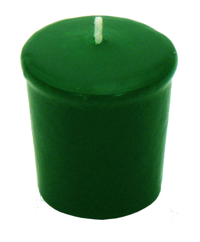 Hunter Green Votive Candle - 15 hr, Unscented, Flared