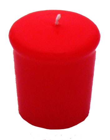 Apple Red Votive Candle - 15 hr, Unscented, Flared