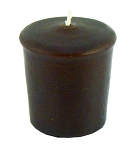 Chocolate Brown Votive Candle - 15 hr, Unscented, Flared