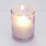 Cheerful Purple Dot Votive Candle Holder