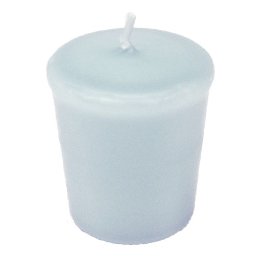 Baby Blue Votive Candle - 15 hr, Unscented, Flared