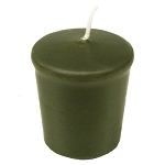 Olive Green Votive Candle - 15 hr, Unscented, Flared