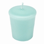 Robin Egg Blue Votive Candle - 15 hr, Unscented, Flared