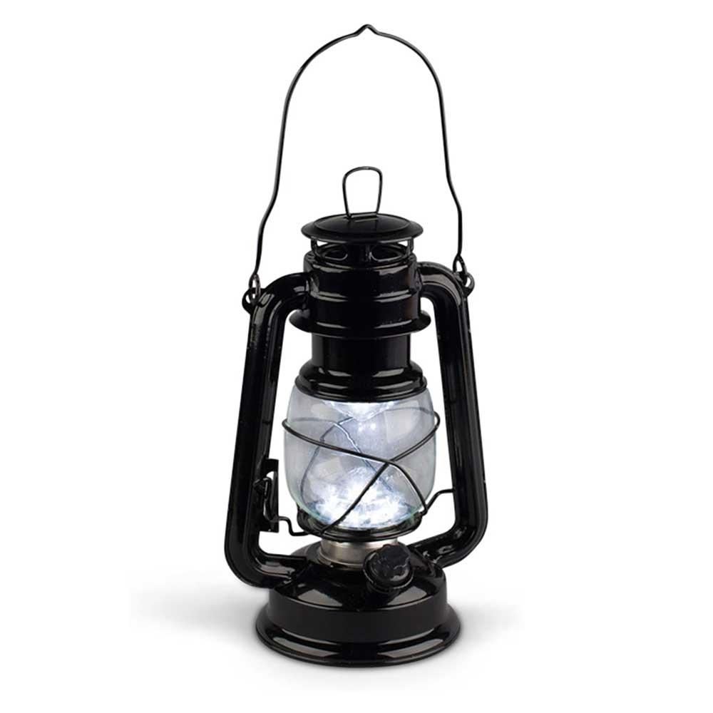 Black Metal Digital Flame LED Lantern with Transformer
