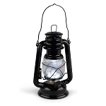 High Intensity LED Vintage-Style Black Hurricane Lantern - 2 sizes