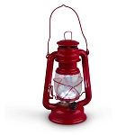 High Intensity LED Vintage-Style Red Hurricane Lantern - 2 sizes