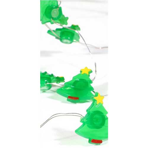 Mini Christmas Trees Fairy Lights (30) - Battery Operated