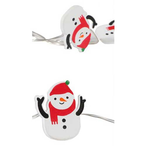 Mini Snowman Fairy Lights (30) - Battery Operated