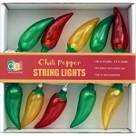 3-Color Chili Pepper String Lights