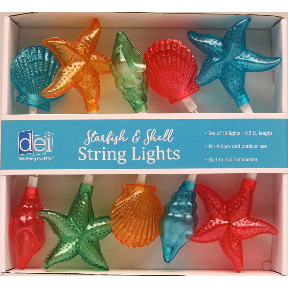 Brightly-Colored Seashell String Lights