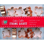 6' Copper Cookie Cutter Battery-Operated String Lights - 3 styles