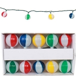 Colorful Striped Beach Ball String Lights