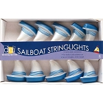 Blue & White Sailboat String Lights