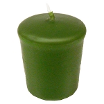 Green Tea Votive Candle - 15 hr, Unscented, Flared
