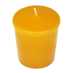 Harvest Gold Votive Candle - 15 hr, Unscented, Flared