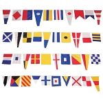 40-Foot Nautical Fabric Signal Flag Border - 40 Flags