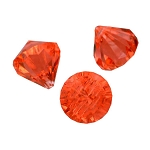 1-inch Coral Multi-Facet Acrylic Diamonds - 100 Count